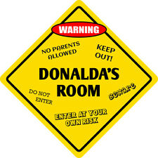 "*Aluminum* Donalda's Room Kids Room Door 12""x12""  Metal Novelty Sign"