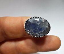 Piedras Preciosas Zafiro Natural Vintage turco plata esterlina 925 Anillo para hombre S