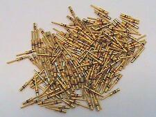 227 each Amphenol Gold Terminal Pin Contact 10-497368-205 NOS
