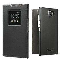 GENUINE BLACKBERRY PRIV BLACK LEATHER SMART FLIP CASE COVER WALLET ACC-62173-001