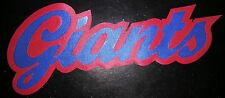 "HUGE NEW YORK GIANTS IRON-ON PATCH - 5"" x 10.5"""