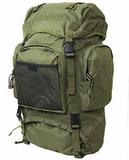NEW Olive Green 55L COMMANDO RUCKSACK - Army Style Camping Hiking Backpack Bag