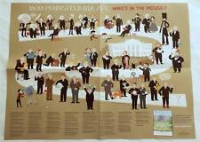 NEW 1600 Pennsylvania Ave.  Who's In The House? US Presidents Illustrated Poster