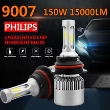 2x PHILIPS 150W 15000LM 9007 HB5 LED Headlight Kit Bulbs Hi/Lo Beam 6500K Canbus
