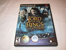 The Lord of the Rings: Two Towers (Playstation PS2) Black Label Complete Exc!