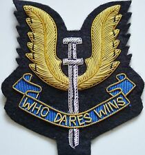SAS SPECIAL AIR SERVICE HAND MADE BULLION WIRED REGIMENTAL BLAZER BADGE