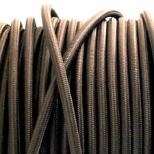 DARK BROWN vintage style textile fabric electrical cord cloth cable 3 core wire