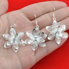 925 silver  Fashion jewelry  Pendant+earring jewelry set wh697