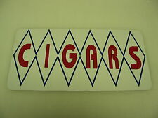 Diamond CIGARS Sign Metal vintage Pop Soda Fountain Drive In Vending Machine