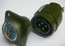 1pc Military Gold 4-Pin Twist Male Female Connector,M4P