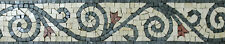 Vines Spirals Floral Art Skirting Wall Floor Tile Marble Mosaic BD523
