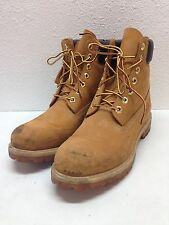 "Timberland Premium Waterproof 6"" Wheat Leather Mens Work Boots Size 10 M"