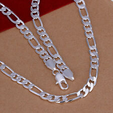 hot! wholesale Sterling solid silver fashion jewelry Chain 8mm Necklace XLSN018