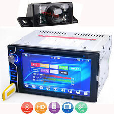 "6.2"" Double 2Din In Dash Car Stereo DVD Player Touch Screen BT Radio TV +Camera"