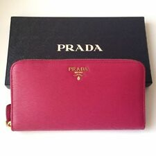 BNWT Prada Vitello Move Zipped Wallet Ibisco