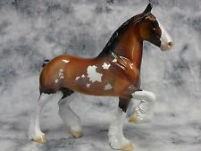 Peter Stone * Strawberry Blossom * Trotting Draft Pinto Traditional Model Horse