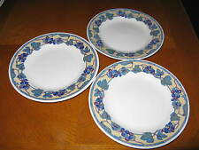 Set of 3 Salad Plates by Churchill for Pier 1 Pattern CCH13 Grape & Leaf Mosaic