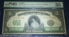 Princess Patricia, $1 Dominion Of Canada 1917 PMG 35 Seal ONLY ,Suffix A ,DC-23d