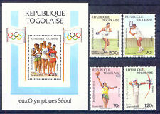 Olympiade 1988, Olympic Games - Togo - 2081-2084, Bl.308 ** MNH