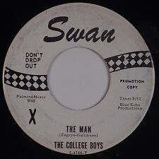 COLLEGE BOYS: The Man JFK FOLK Tribute SWAN Wanderers, Minute Men 60s 45
