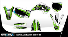 KIT ADESIVI GRAFICHE WE LOVE FMX KAWASAKI KX 125 250 2004 2005 2006 2007 2008