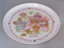 Vintage 1983 Strawberry Shortcake plate -Share fun - Angel Cake, Apricot, Butter