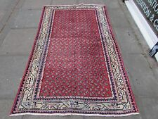 Old Traditional Hand Made Persian Rug Oriental Rug Wool Red Rug 210x123cm