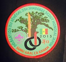 23rd world scout jamboree SENEGAL woven emblem 2015