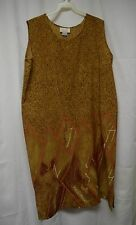 Womens Dress Size XL By Voir Brown Pull Over Sleeveless Below Knee