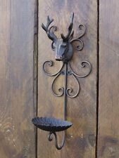 One STAG Shabby Chic Wrought Iron Wall Garden Candle Tea Light Holder XMAS GIFTs