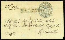 ITALY : 1829. Folded Letter from Apostolic Macerata(PAPAL) Delegation Ornamental