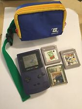 NINTENDO GAMEBOY COLOR GBC Uva Morado Consola +4 Juegos POTTER COOL SPOT W. carrera