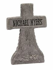 "21"" Cross Michael Myers Halloween Tombstone Gravestone Halloween Decoration Prop"