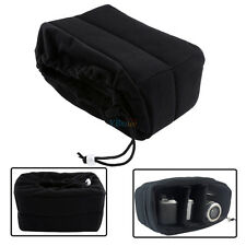 Black DSLR Partition Padded Camera Bag Insert SLR Shockproof Case for Canon