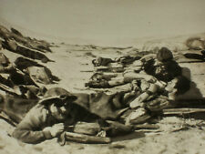 Rare Historical Orig VTG WW2 1942 British Wounded Treated, Egyptian Desert Photo