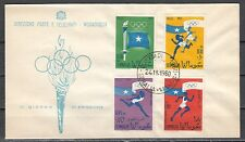 + Somalia, Scott cat. 248-9, C73-74. Tokyo Olympics issues on a First day cover.