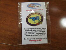 LE 2001 Disney Auctions Ebay Virtual Cow Reflective Moosaic Pin in Package