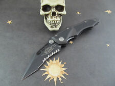 Vintage Microtech knives Vector Folder DLC Combo Edge 154CM Made 12/1999