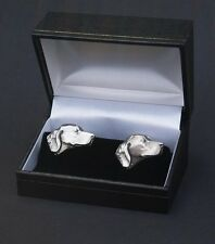 Golden Retriever Cufflinks Dog Labrador Boxed Pewter Cuff links FREE UK POST
