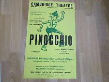 PINOCCHIO inc Robert Bond  CAMBRIDGE Theatre Original Poster