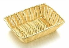 RECTANGLE POLY RATTAN BUFFET BASKET DISPLAY BREAD ROLLS CROISSANT FOOD