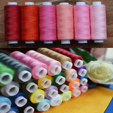 30pcs Spools Assorted Colors 100% Polyester Sewing Quilting Threads All Purpose