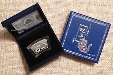 2013 1oz fan shape silver coin China Lunar year of snake with COA and box