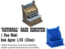 O/On30/1:48/28mm/32mm 3d printed 'National' Cash Register (1 piece)