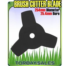 """Brush Cutter Blade Strimmer Metal Disc 254mm 25.4mm Bore Petrol 3 Tooth 10"""""""