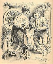 DESSIN HUMOUR WAGNER FRAUDE DES VIGNERONS VIN 1907