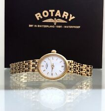 Rotary Ladies Gold plated watch,Scratch resistant glass Boxed RRP£169 (r42