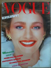 VOGUE GERMANY 12 - 1980 Sylvie Benoit Ägypten Anwar El Sadat Mode & Beauty
