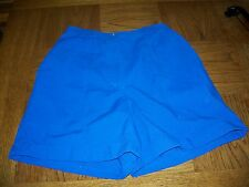 NWT Karen Scott Casual Shorts  size 8 Partial Elastic Waist Blue
