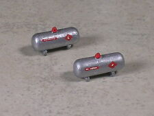N Scale 2 Small Silver Home Size Propane Tank Lettered, #4